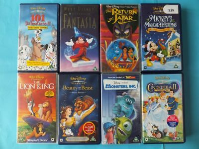 Walt Disney Job Lot Bundle VHS Videos x 8 Various inc. Beauty & The Beast