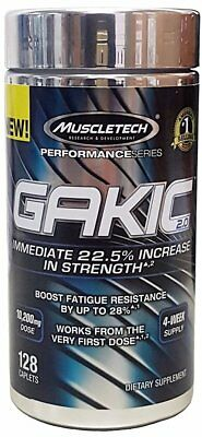 Muscletech Performance Series GAKIC 2.0 128 Caplets Brand New Expedited Ship