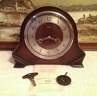 "1950 Smiths Enfield: The ""Tay"" Model 8-Day Striking Mantel Clock -Serviced & GWO"