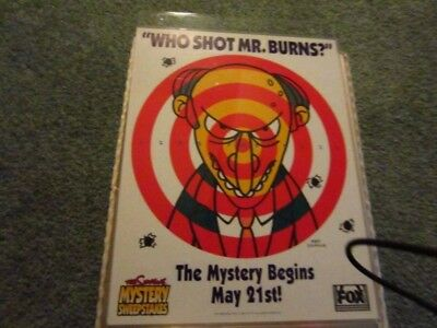 Simpsons Who Shot Mr. Burns Promotional Dart Game From Season 6