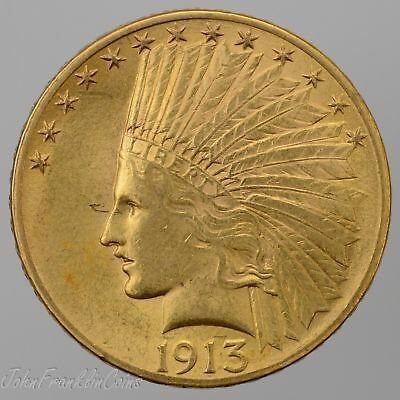 1913 $10 Indian Head Gold Eagle BU++ /Q-892