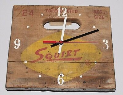 Squirt Soda Vintage Crate Clock