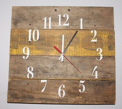 "Pepsi Vintage Crate Clock ""Yellow Bold"""