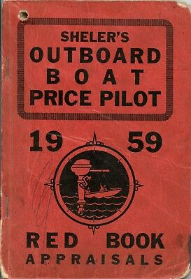 Vintage 1959 Outboard Boat Price Appraisal Guide Red Book