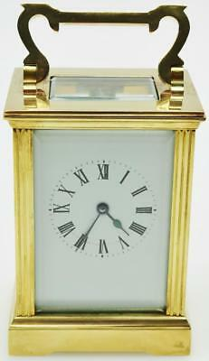 French Carriage Clock 8 Day Mantel Clock - Original Finish Carriage Clock