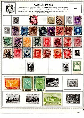 Spain stamps x approx 445 some very early copies loose and album pages