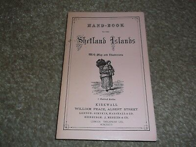 Shetlands Isles hand book with map and illustrations, published in the Shetlands