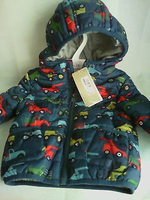 M&S baby coat 3-6 months blue new