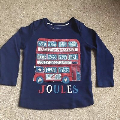 Boys Little Joules English/British Phrases Top - Size 12-18 Months