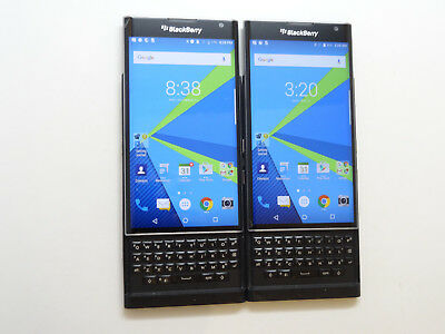 Lot of 2 Blackberry Priv T-Mobile STV100-1 32GB Smartphones Cracked AS-IS GSM