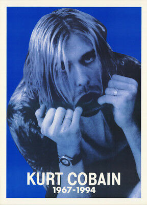 LOT OF 2 POSTERS :MUSIC : KURT COBAIN - NIRVANA - FINGERS IN MOUTH      LW12 i