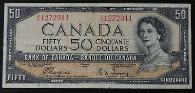 Scarce 1954 Bank of Canada $50 Note Coyne/Towers Devil's Face