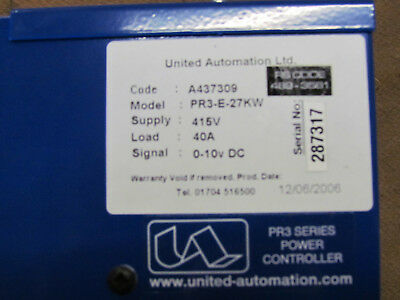 Powercontroller, United Automation 27KW Heizregisterregler