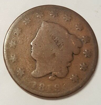 1819 Penny Coronet Large Cent