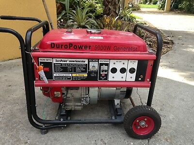 Duropower 5000 watt gas generator. Never used. Won't run. Make offer