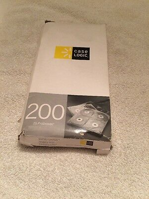 CD DVD Sleeves 200 Case Logic 25 Pro Sleeves 2 Sided Hole Punched