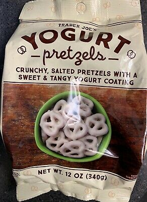 New Sealed Exclusive Trader Joe's Yogurt Covered Pretzels 12 Oz Crunchy Salted