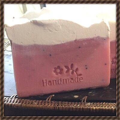 1 X Strawberry N Cream Handmade Soap, Natural, Organic