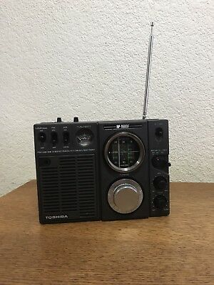 Vintage Toshiba RP-1600F Shortwave Am/Fm Radio Portable 3 Band Radio