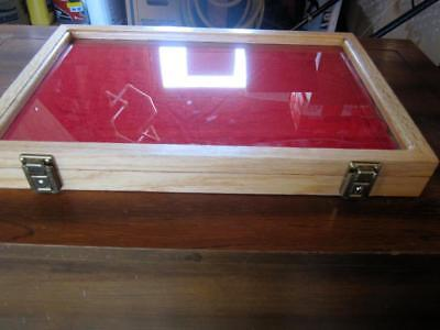 S&d Wood Products??? Display Case Great For Artifacts 18X12X1 3/4