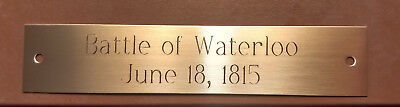 """Custom Engraved Decorative Brass Name/Trophy plate 3/4"""" x 4-1/2"""""""