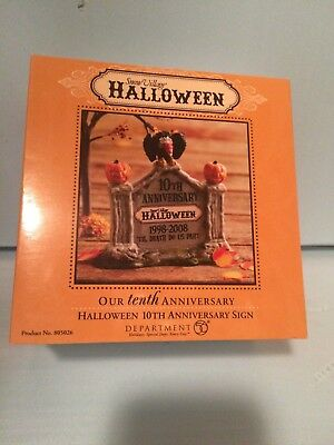 Department 56 Halloween - Our 10th Anniversary Sign