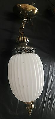vtg Underwriters Laboratories porcelain ceramic globe Hanging Chandelier light