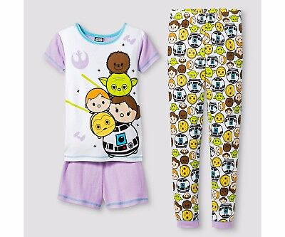 Disney TSUM TSUM Star Wars 3pc.Girls Pajama Set  sz 10  NWT  NEW Sleepwear