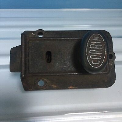 Antique CORBIN Door Latch Twist Knob Architectural Salvage A11
