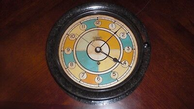 WW2 US Navy Seth Thomas Bakelite Ships Clock  Runs!!!