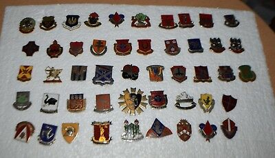 Large Assorted Lot of Vintage Military Pins
