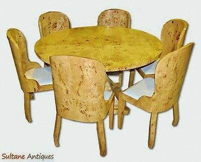 Quality 48 inches Art Deco style 7 pieces Dining set