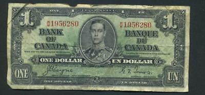 1937 Banque du Canada One Dollar  Coyne-Towers Signature , circulated but cool!