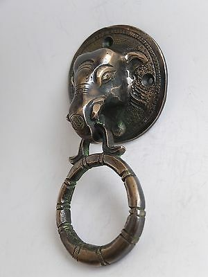 Vintage Antique Style Hand Made Solid Brass Elephant Handle Door Knocker