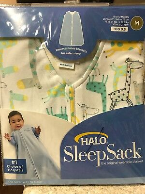Halo Sleep Sack, New in Package, giraffe print, size medium fits 6 to 12 months
