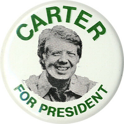 Vintage 1976 Jimmy CARTER for PRESIDENT Campaign Button (1413)