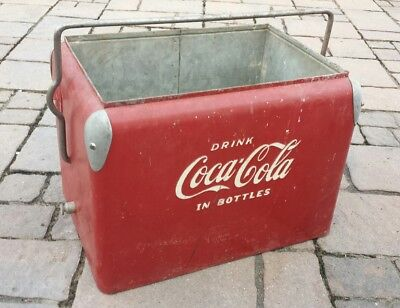 Vintage 1950 Coca Cola Cooler Coke Ice Chest Box No Lid made by Action Mfg. Co