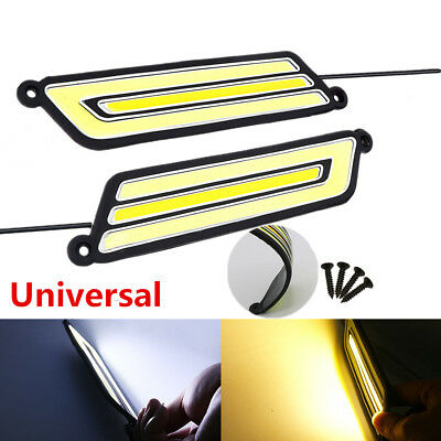 2PCS COB Silicone DRL car accessories LED Day Light Daytime running light DC 12V