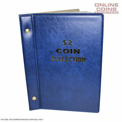 VST Australian $2.00 Coin Album 1988-2018 With Printed Mintage Interleaves BLUE