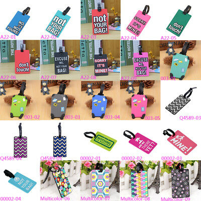 PVC Trolley Luggage Tags ID Name Tag Holder Travel Suitcase School Bag Label Hot