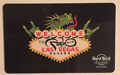 New Limited Ed. Hard Rock Las Vegas Welcome Psycho Sign Hotel Casino Room Key