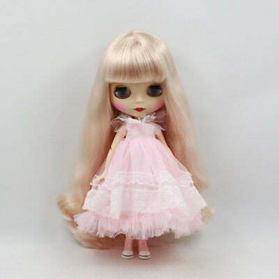 Neo Blythe Factory Nude Doll Light-Gold Long Hair mate face AZONE special Body