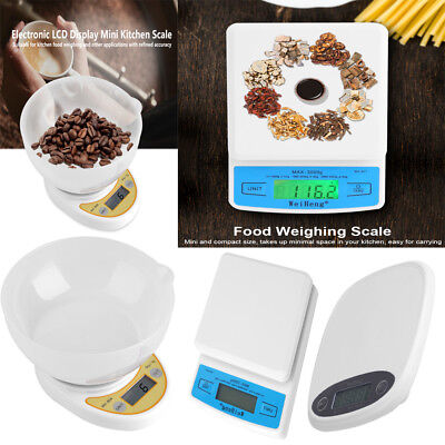 5kg*1g Electronic LCD Display Mini Kitchen Scale Digital Food Weighing Balance S