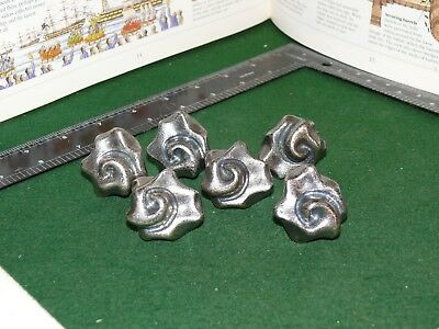 6 Vintage Solid Metal Flower Shape Drawer Cabinet Cupboard Pull Knob Hardware