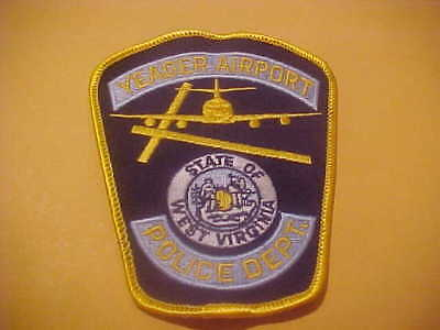 West Virginia Yeager Airport Police  Patch Shoulder Size New