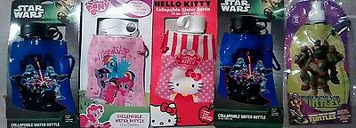 Collapsable water bottles 5 pcs Star Wars, My little pony, Hello Kitty , TMNT