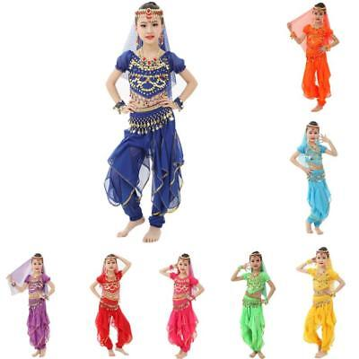 2PCS KID's Professional Belly Dance Costumes Set Halloween Costumes for Girl