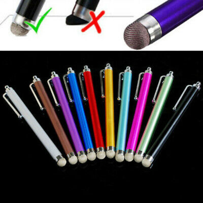 5Pc Metal Mesh Micro-Fiber Tip Touch Screen Stylus Pen For Smart Phone Tablet PC