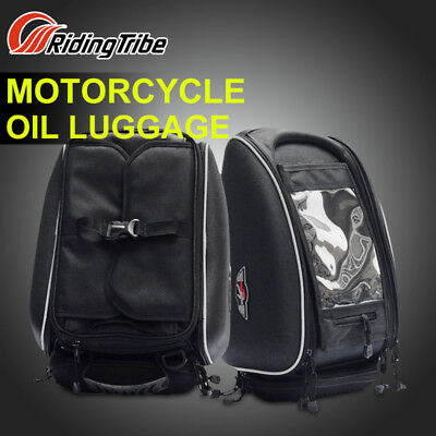 Waterproof Magnetic Motorcycle Motorbike Oil Fuel Tank Bag with Phone/GPS Pouch