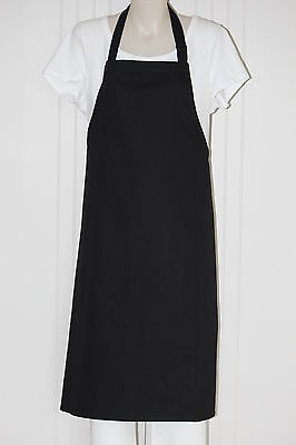 Bib Black Apron / Quality made apron with adjustable neck strap